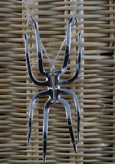 Spider fork pendant cutlery jewellery jewelry by Buffergirl