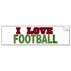 I Love Football Bumper Stickers #storecee
