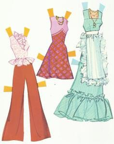 Paper Dolls and Toys:  Barbie Sweet 16 clothes