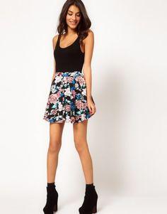 Skater Skirt , Boots & black socks