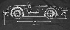 Vintage race car diagram