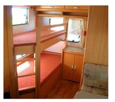 DIY Ladder Idea for camper bunk beds.