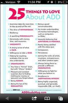 ADD top 25 good things!:)