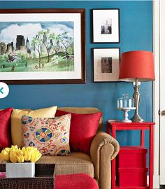 Keeping in mind the color of your couch what do you think of a block of color on walls