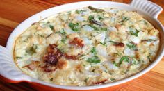 Spring Onion Bread Pudding - At his Charleston, South Carolina, restaurant, Johnson roasts peak-season spring onions to capture their inherent sweetness, then combines them with corn bread, parsley and a nutty Swiss-style cheese in this savory bread pudding. Forget potatoes: This Southern-inspired recipe will be our starchy side dish of choice until spring onions disappear.