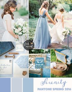 Serenity blue Wedding Theme { Pantone Spring 2016 } : http://www.fabmood.com/serenity-blue-wedding-theme #bluewedding