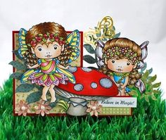 Daisy Faerie Marci (with Accessories) Digi Stamp fro lala land