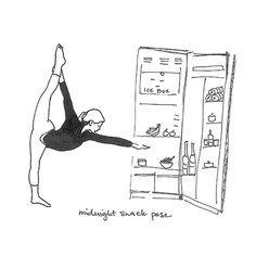 kate spade new york yoga pose no. 2: midnight snack