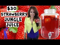 ▶ How to make Strawberry Jungle Juice for under $30! - Tipsy Bartender - YouTube