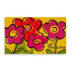Bright Floral Doormat - BedBathandBeyond.com