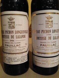 1986, 1996 Chateau Pichon Longueville Comtesse de Lalande