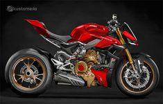 """Ducati Streetfighter Brutal en blanco y en """"Rosso Ducati"""" Ducati Cafe Racer, Ducati 696, Ducati Logo, Ducati Scrambler Sixty2, Ducati Motorbike, Cafe Racers, Triumph Motorcycles, Vintage Motorcycles, Custom Motorcycles"""