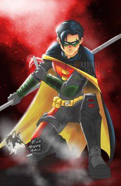 Drawing Superhero Robin by RadiantGrey - Robin Tim Drake, Robin Dc, Batman Robin, Nightwing, Batgirl, Robin Drawing, Dc Comics, Robin Costume, Red Hood Jason Todd