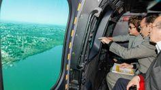 Presidenta Dilma - Sobrevoo - áreas atingidas nas enchentes