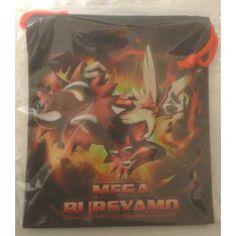 Pokemon Center 2013 Mega Blaziken Medium Size Drawstring Dice Bag
