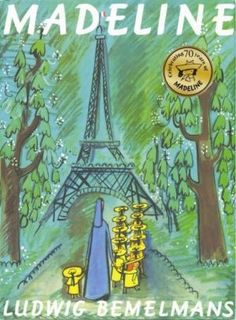 "Madeline by Ludwig Bemelmans.  A fabulous series of books.   ""In an old house in Paris that was covered with vines lived twelve little girls in two straight lines.  In two straight lines they broke their bread and brushed their teeth and went to bed.  They left the house at half past nine In two straight lines in rain or shine - The smallest one was Madeline."""