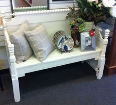 Benches Made From Bed Frames | Bed Frame Bench Redux-Sold