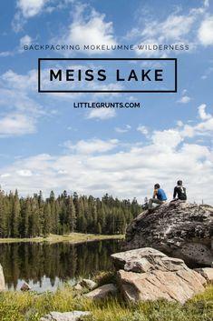 Backpacking Mokelumne Wilderness, Meiss Lake. No people, no problem.