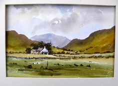 How to paint a Lake District  scene with Alan Owen----WONDERFUL STUFF.----feel as if you're sat along side him.