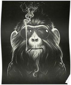Smoke 'Em if You Got 'Em by Dr, Lukas Brezak (Canvas) from Best of Curioos Art on Gilt Coque Samsung Galaxy A3, Pop Art, Mighty Wallet, Monkey Art, Monkey Drawing, Monkey Style, Monkey Room, Canvas Prints, Art Prints