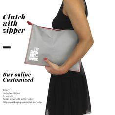 reusable paper envelope with zipper//busta/clutch/pochette riutilizzabile in carta con cerniera