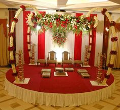 Indian Bridal Mandaps- Floral, Traditional. Red!  Posted by Soma Sengupta
