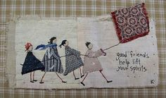 by Kellie Sammon : j'aime beaucoup ! by Kellie Sammon : j'aime beaucoup ! Freehand Machine Embroidery, Free Motion Embroidery, Paper Embroidery, Embroidery Applique, Embroidery Stitches, Embroidery Patterns, Sewing Art, Sewing Crafts, Fabric Art