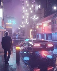 Delorean car flying time machine edit synthwave artwork futuristic design street world cyberpunk Cyberpunk City, Arte Cyberpunk, Cyberpunk Aesthetic, Aesthetic Light, City Aesthetic, Purple Aesthetic, Light Purple Wallpaper, Wallpaper Animes, Hd Wallpaper