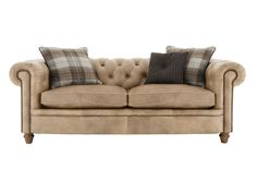 New England Newport 3 Seater Leather Sofa - Furniture Village