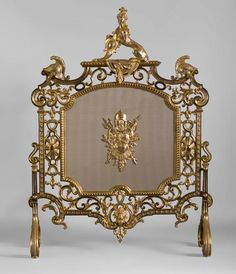 Very beautiful antique fire screen attributed to Eugène Piat with Sphinx (Reference - Available at Gallery Marc Maison Dressing Screen, French Sculptor, Charred Wood, Architectural Antiques, Candelabra, Fixer Upper, Fireplaces, French Antiques, Chandeliers