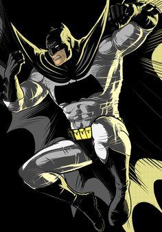 Dark Knight Batman Black Commission by Thuddleston.deviantart.com on @DeviantArt