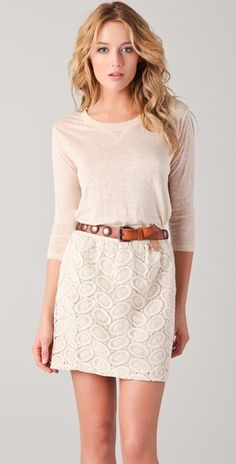 Club Monaco top and lace skirt