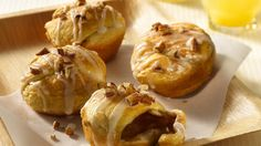 Refrigerated crescent rolls magically transform into luscious sweet rolls.