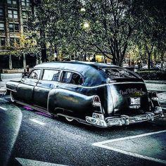 Chopped Bagged 1951 Cadillac Lowrider Hearse