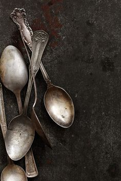 I like how simple this photo is and still captures the detail in the vintage spoons very well.