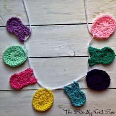 This garland made with crochet bunnies and eggs sounds like a great project to decorate a playroom.  Check out the crochet pattern by @kalidahle - looks like a great project for Vanna's Palettes.