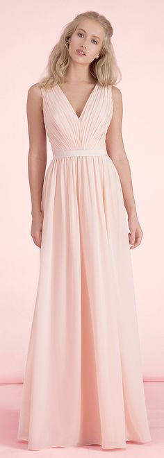 Exquisite Chiffon V-neck Neckline A-line Bridesmaid Dresses
