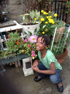 Kelise in the garden on Columbus Say