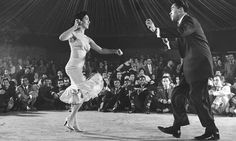 Millie Donay and Pedro 'Cuban Pete' Aguilar dance the Mambo at the Palladium ballroom