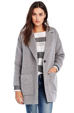 Wool Cocoon Coat - Outerwear - Womens - Armani Exchange