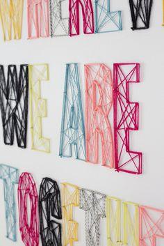 yarn wall art - Google Search