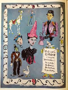 Elsa Schiaparelli as Ringmaster. And all of Paris followed her folly and her circus... In Vogue. 1938.