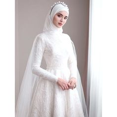 non traditional muslim wedding dresses Kebaya Wedding, Muslimah Wedding Dress, Muslim Wedding Dresses, Muslim Brides, Elegant Wedding Dress, Muslim Dress, Dream Wedding Dresses, Bridal Dresses, Muslim Couples