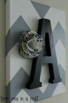 {project} diy chevron wall art