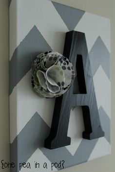 sighs endlessness i must make M's one pea in a pod: {project} diy chevron wall art