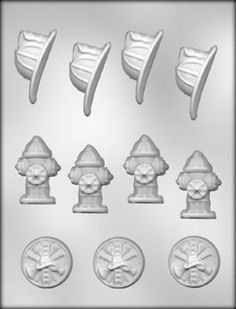 Fireman Symbols Chocolate Candy Mold Firefighter Soap Crafts