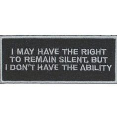 I may right remain silent patch patches 2 Saints Row, Cry Anime, Anime Art, Dungeons E Dragons, Hawke Dragon Age, Girls Anime, Manga Girl, Funny Quotes, Funny Memes