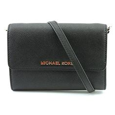 MICHAEL Michael Kors Women's Jet Set Large Phone Cross Body Bag, Black, One Size *** Read more reviews of the product by visiting the link on the image.