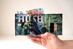 BATMAN Portemonnaie  D.C. Comic upcycling Unikat! Geldbörse, Brieftasche, Geldbeutel Batman Superheld DC Comic wallet handmade in Berlin von PauwPauw auf Etsy