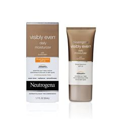Restore skin's youthful radiance with Visibly Even Daily Moisturizer with SPF 30 by Neutrogena.